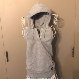 Like New VANS Size: Med. Button Up Halter Hoodie